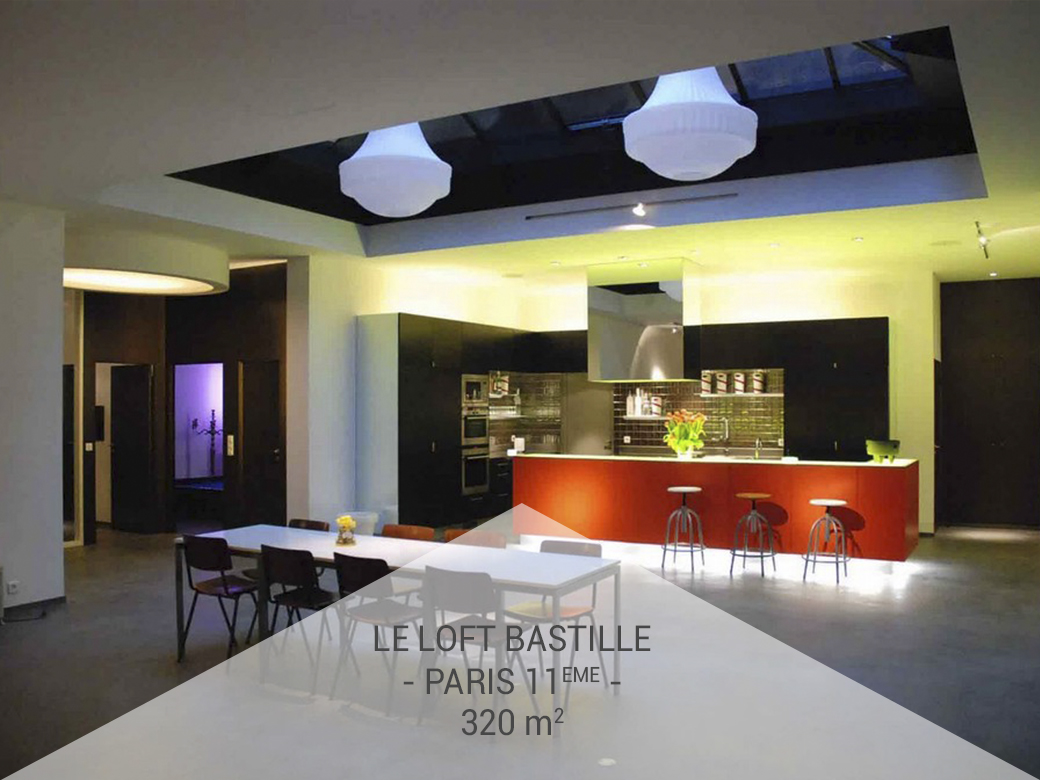 privatisation location le loft bastille paris 11 me. Black Bedroom Furniture Sets. Home Design Ideas