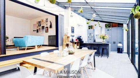 Maison avec verrière et jardin en plein coeur de Paris