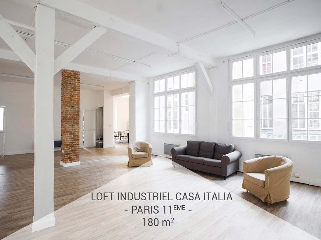 le loft industriel casa italia le site des lofts paris. Black Bedroom Furniture Sets. Home Design Ideas