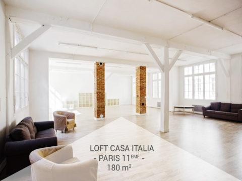 Le Loft Industriel Casa Italia, Paris 11ème