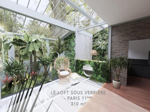 Le Loft sous verrière, Paris 11e